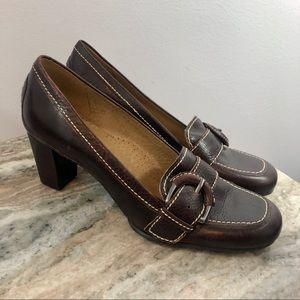 Antonio Melani size 8 loafers brown
